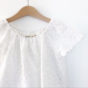 100% cotton Zara Girls Boho White Top size 5 years